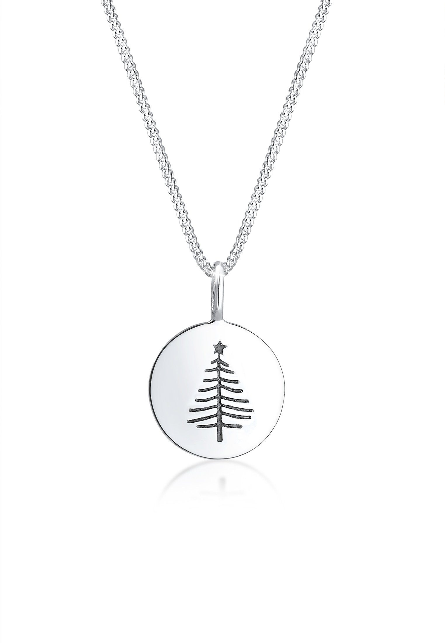 Elli Collierkettchen Panzerkette Tannenbaum Weihnachten 925er Silber | Schmuck > Halsketten > Panzerketten | Elli