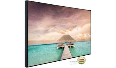 Papermoon Infrarotheizung »Holzsteg Malediven«, sehr angenehme Strahlungswärme kaufen