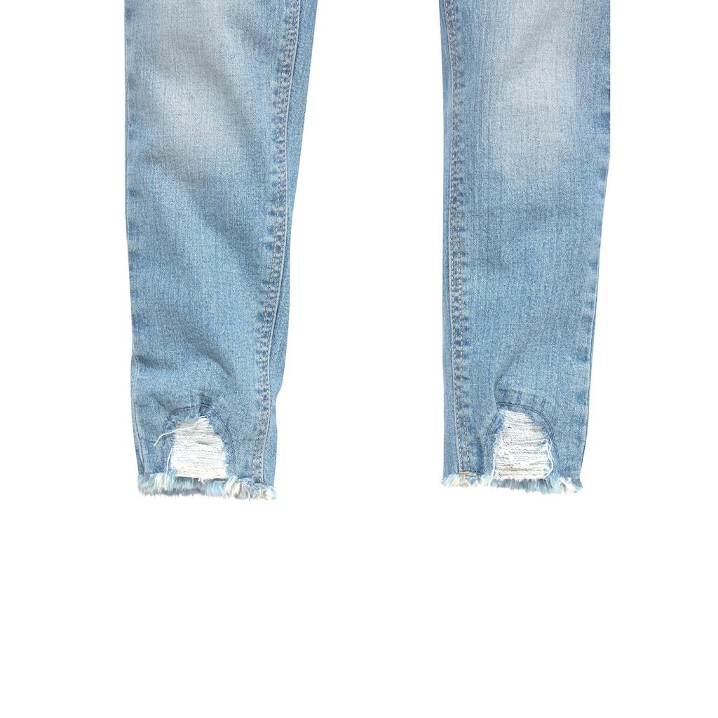 KangaROOS 7/8-Jeans, leicht ausgefranzte Saumkante