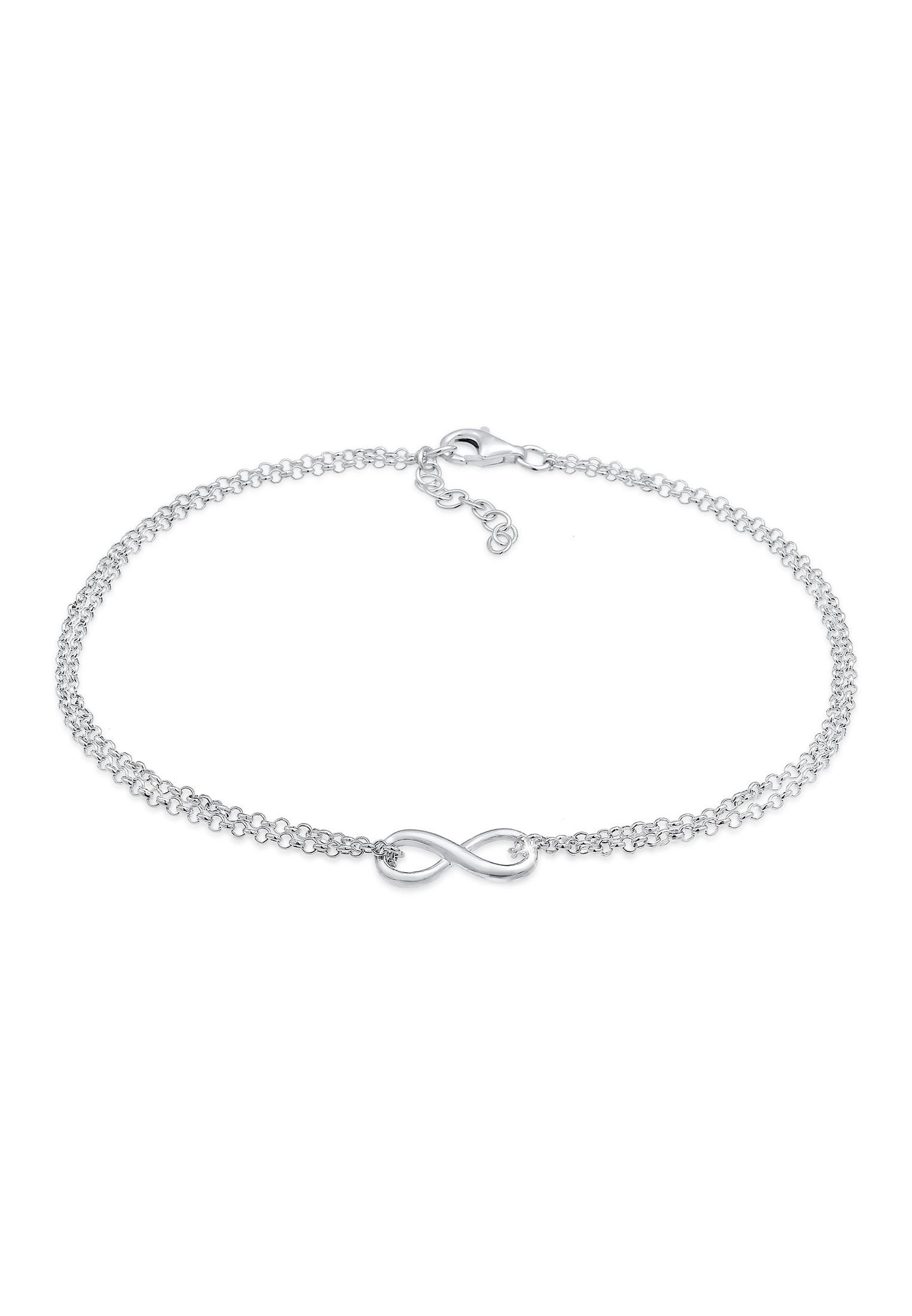 Elli Fußkette Fußkette Infinity Unendlichkeit Symbol 925 Silber | Schmuck > Fußschmuck > Fußkettchen | Elli