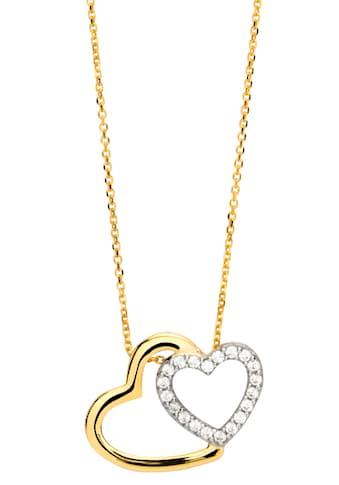NANA KAY Kette mit Anhänger »Gold, Herzen, FG060«, mit Zirkonia (synth.) kaufen