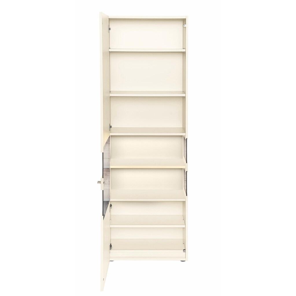 GWINNER Vitrine »ANZIO«, Lack weiß, 1-türig, Höhe 196,4 cm
