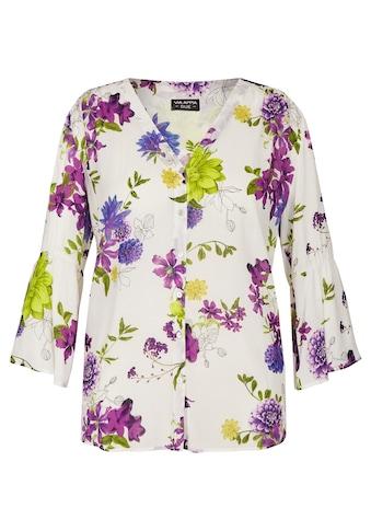 VIA APPIA DUE Romantische Bluse mit Printblüten kaufen