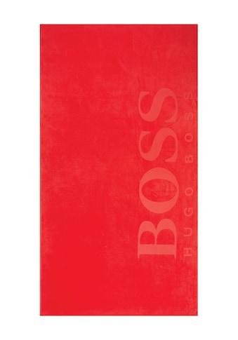 Hugo Boss Home Strandtuch »CARVED«, (1 St.), Samt-Jacquard kaufen