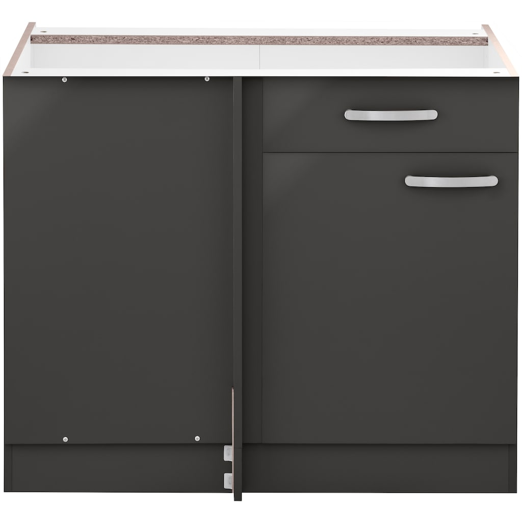 wiho Küchen Eckunterschrank »Kansas«, 110 cm breit, ohne Arbeitsplatte