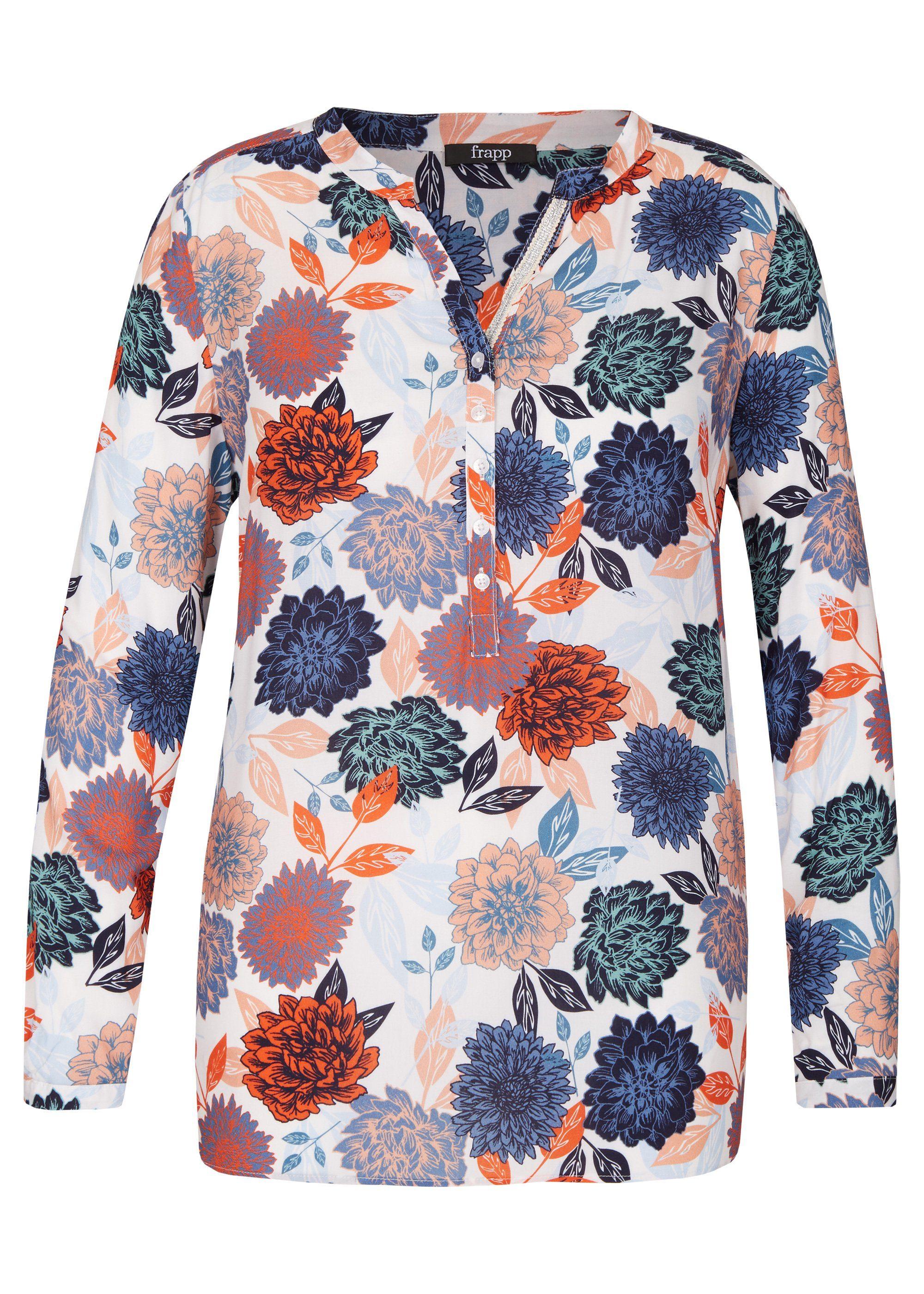 FRAPP Feminine Bluse mit Blumen-Print