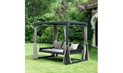HOME DELUXE Pavillon mit Seitenteilen »Provence«, BxL: 236x180 cm, mit Rattanbett und Schiebedach kaufen