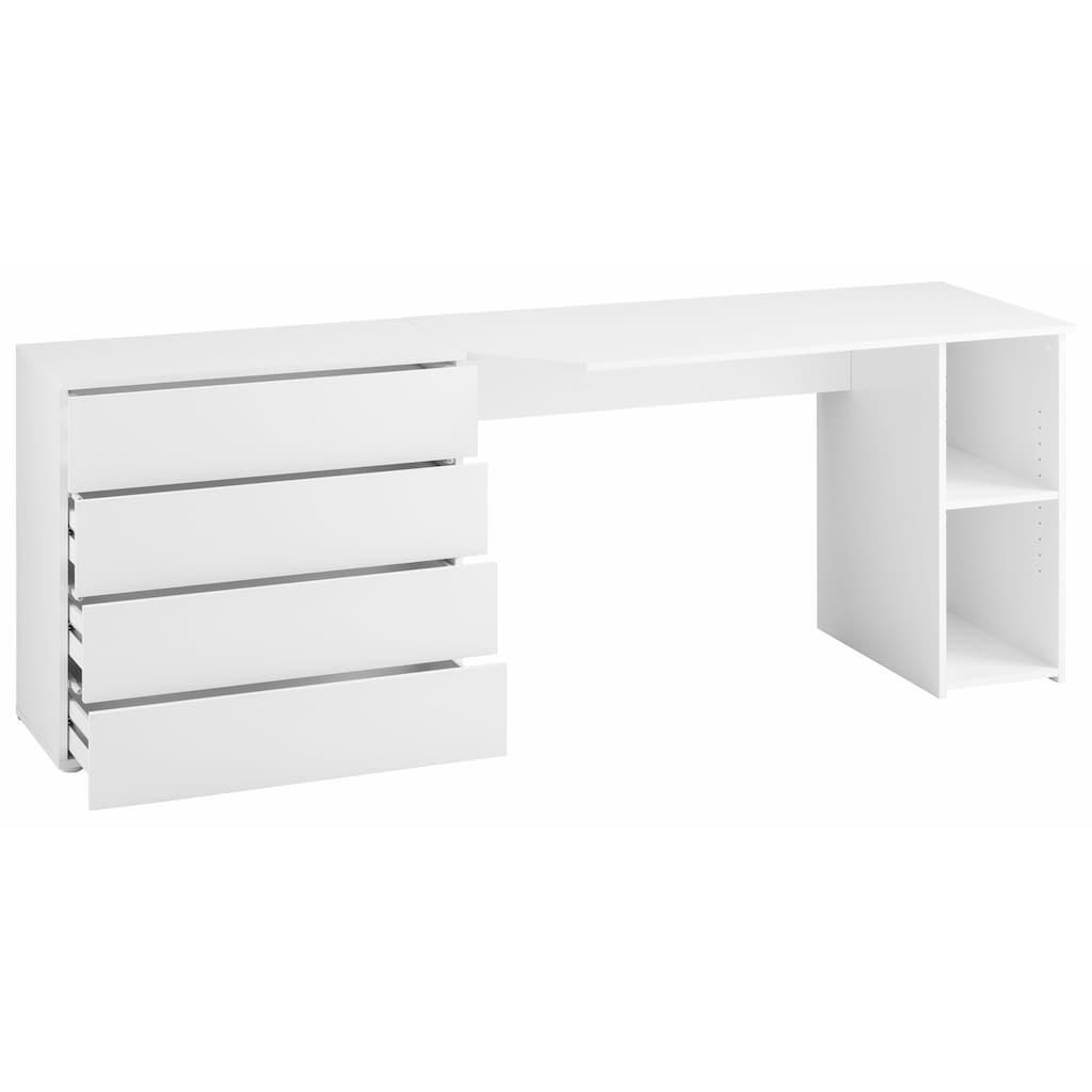 borchardt Möbel Schreibtisch »Wallis«, Breite 196 cm, Push to Open-Funktion