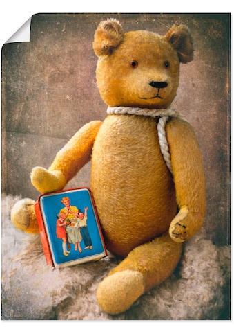 Artland Wandbild »Teddybär mit Sparbüchse«, Spielzeuge, (1 St.), in vielen Größen &... kaufen