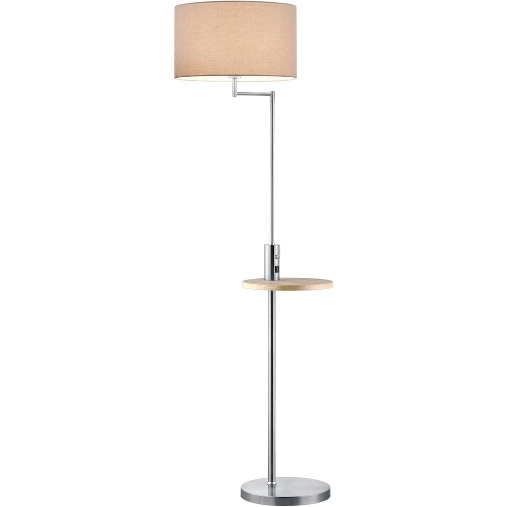 TRIO Leuchten Stehlampe »Claas«, E27, 1 St., Schalter,schwenkbar,USB Anschluss mit Ladefunktion, Leuchtmittel tauschbar