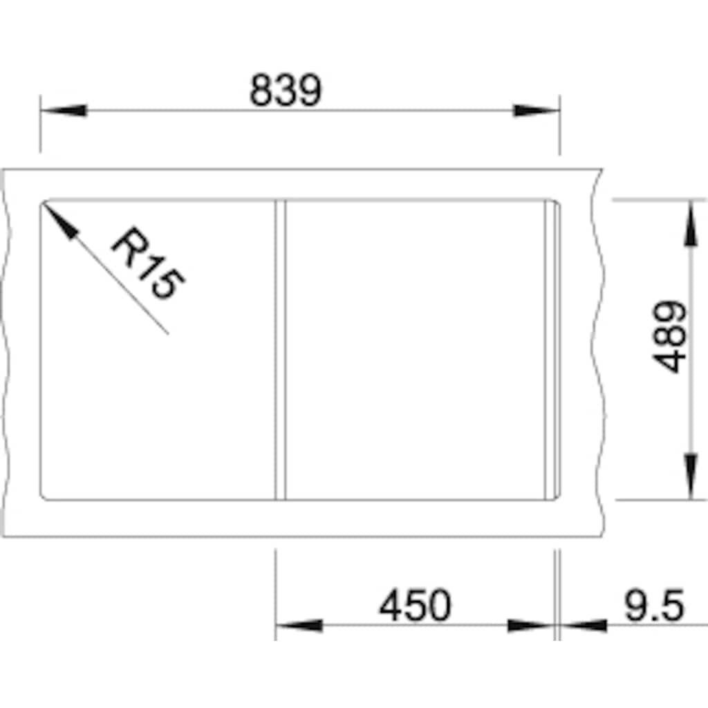 Blanco Küchenspüle »AXIS III 45 S-IF«