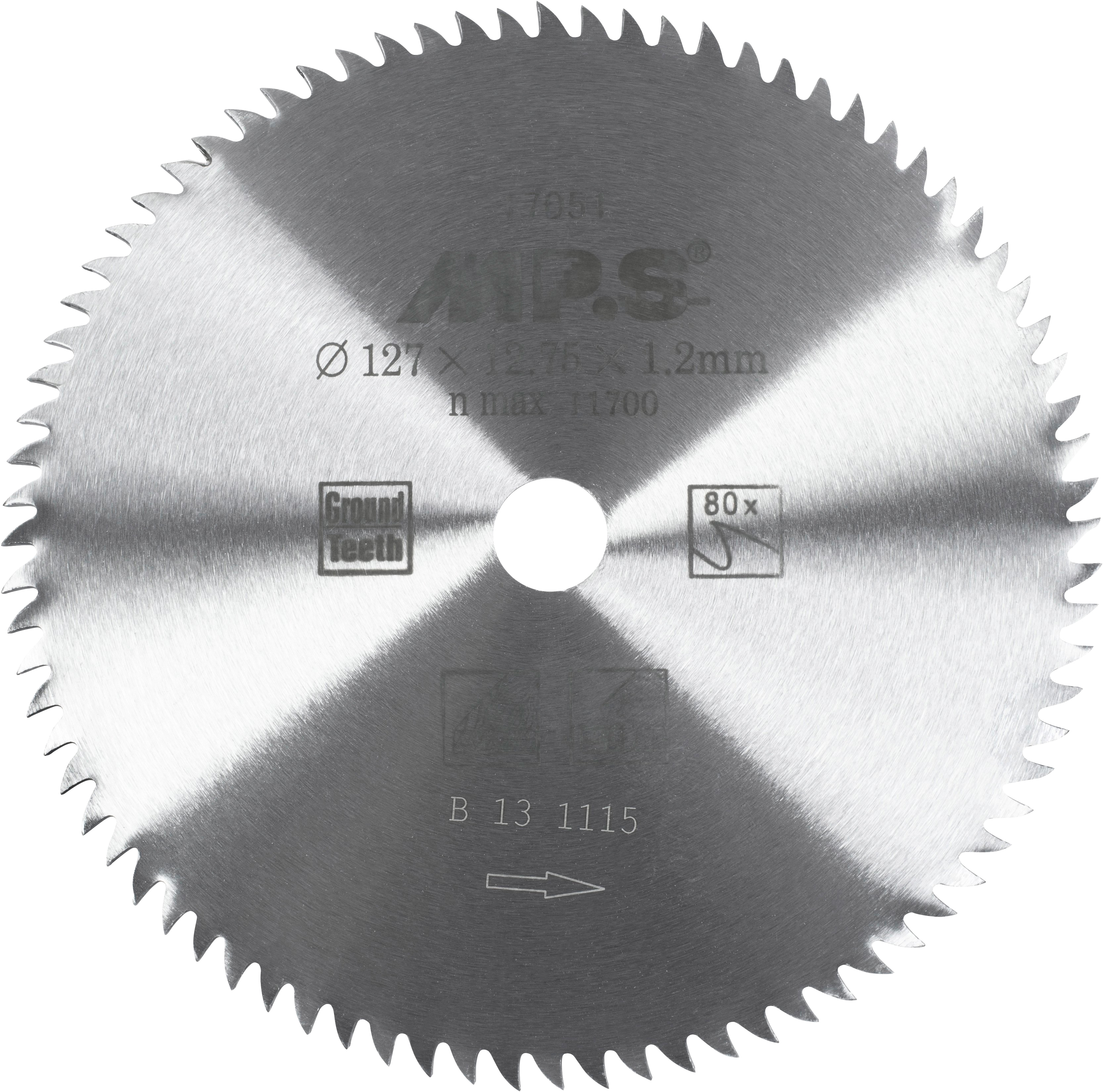 Connex Kreissägeblatt, Hand-/ Tischkreissägeblatt, CV, Feinstzahn, Ø 127 mm silberfarben Sägen Werkzeug Maschinen Kreissägeblatt