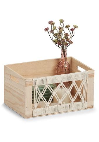 "Zeller Present Dekokiste »Aufbewahrungskiste Boho"", Holz""«, (1 St.) kaufen"