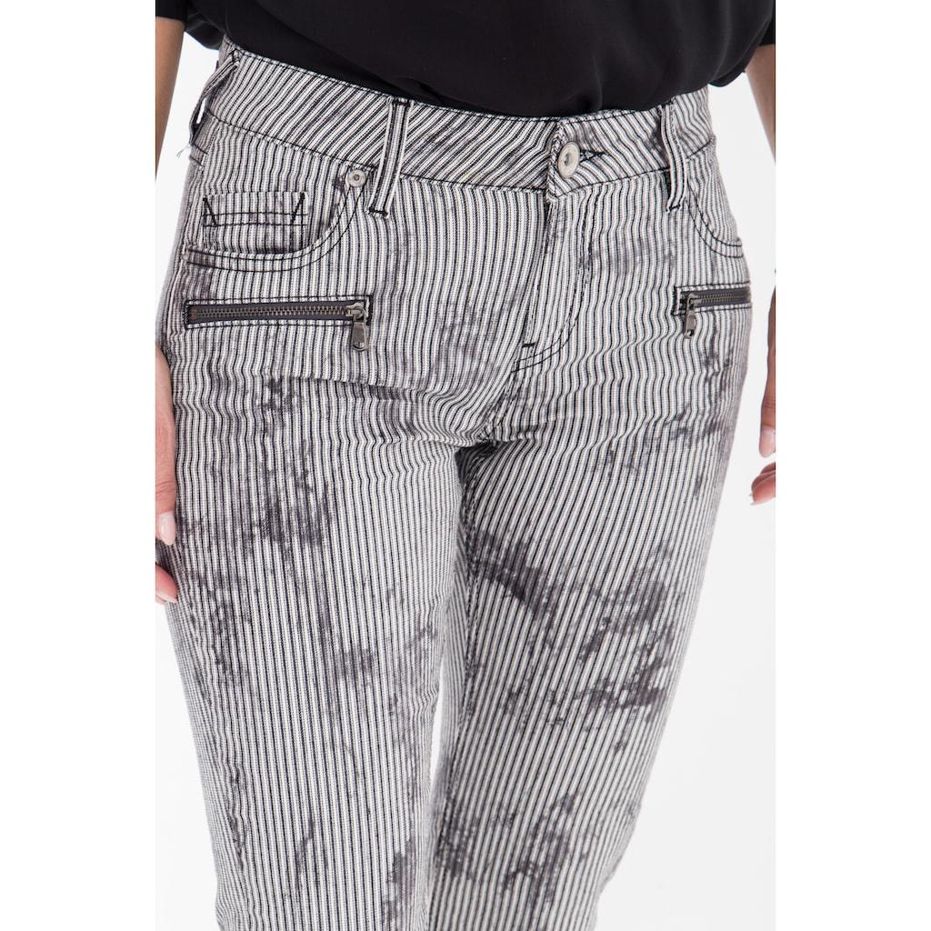 ATT Jeans 5-Pocket-Jeans »Leoni«, mit Streifen im Used-Look