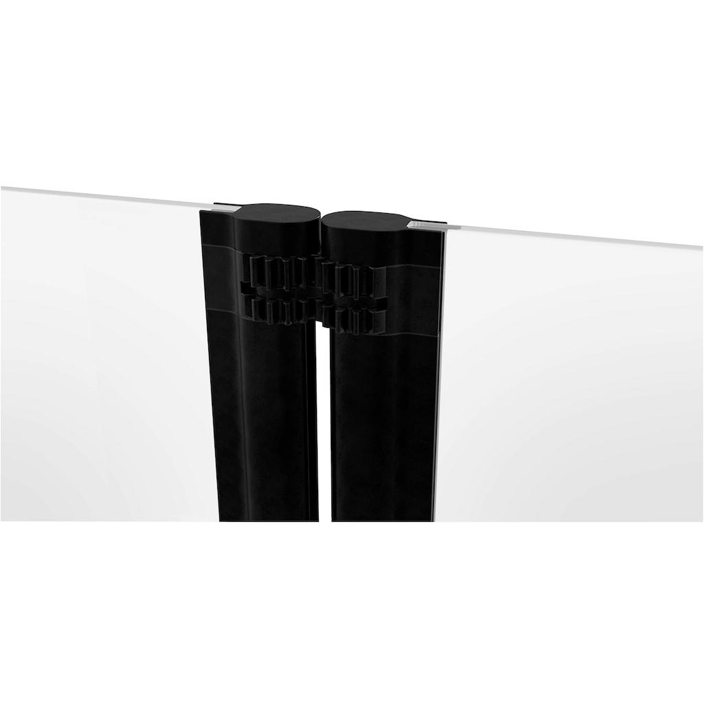 Marwell Badewannenfaltwand »BLACK LINES«, mit Sichtschutz