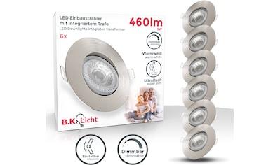 B.K.Licht LED Einbaustrahler, LED-Board, 5 St., Warmweiß, LED Einbauleuchte dimmbar... kaufen