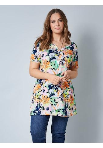 Janet & Joyce by Happy Size Shirttunika mit floralem Druck kaufen