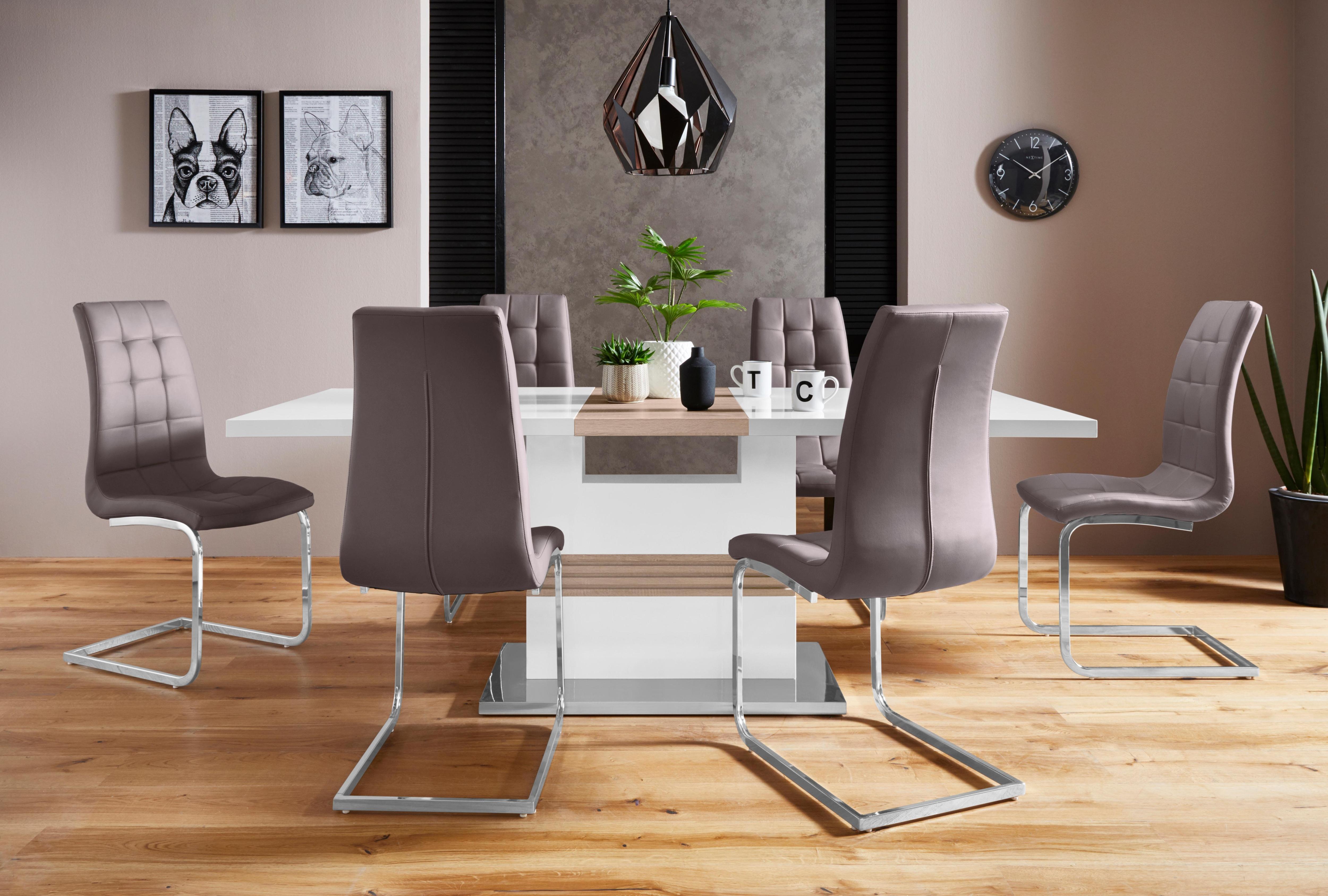 Essgruppe Perez/Lola mit 4 Stühlen Tisch ausziehbar Breite 160-200 cm