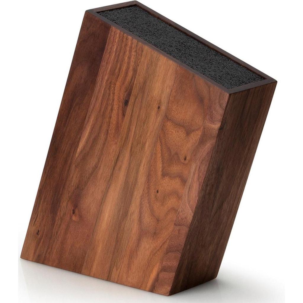 Continenta Messerblock, Walmussholz, mit flexiblem Einsatz