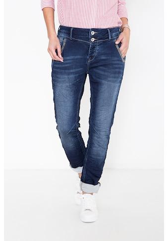 ATT Jeans Boyfriend-Jeans »Kira«, mit Perlendetails an den Taschen kaufen