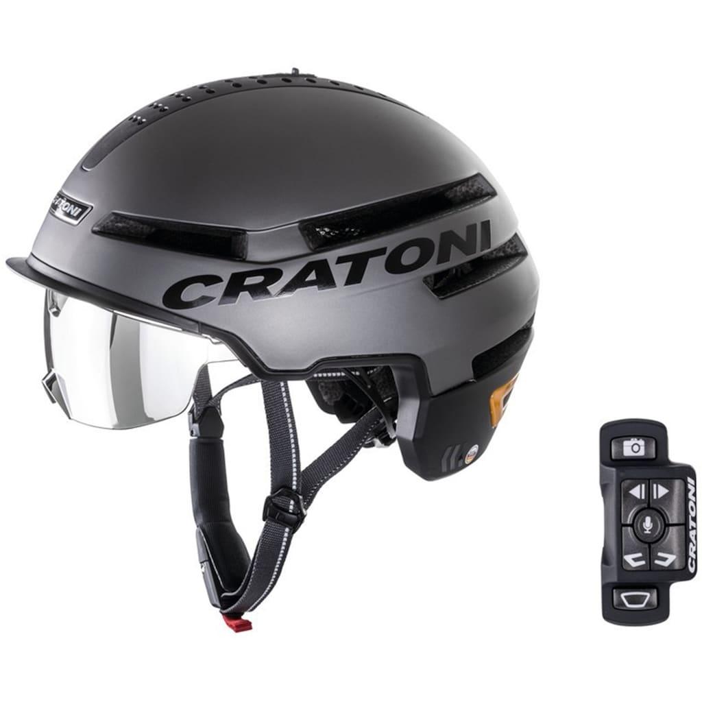 Cratoni Fahrradhelm »Pedelec Helm Smartride«, eingebautes Rücklicht und Blinker, mit Fernbedienung