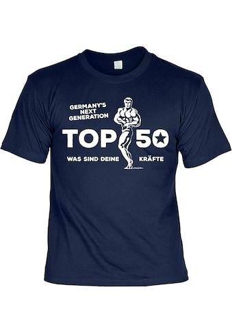 Der Trachtler T - Shirt mit Rippstrick - Kragen »Top 50« kaufen