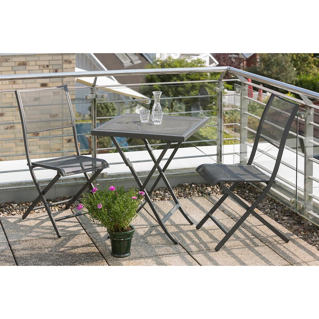 MERXX Gartentisch »Samos«, Stahl, klappbar, 60x60 cm, graphit