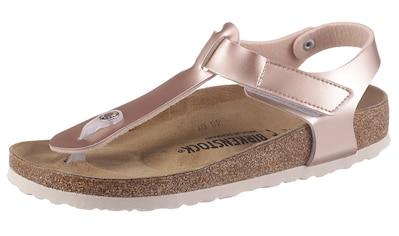Birkenstock Zehentrenner »KAIRO Kids«, in angesagter Metallic-Optik, Schuhweite: schmal kaufen
