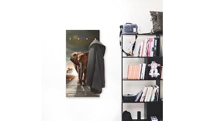 Artland Garderobe »Ein Elefant läuft auf der Straße«, platzsparende Wandgarderobe aus... kaufen