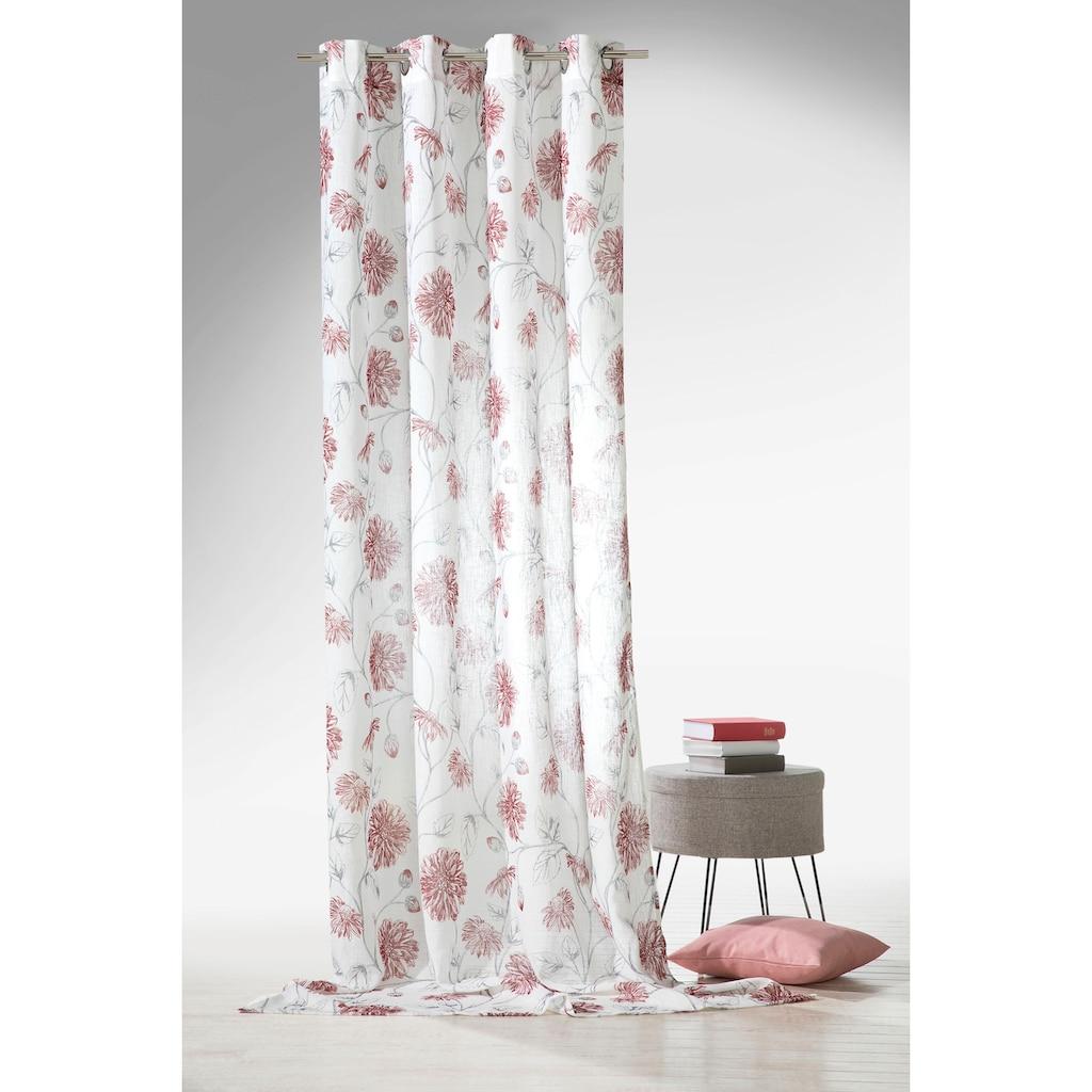Weckbrodt Vorhang »Dahlia«, natürliche Leinenoptik