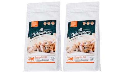 CHRISTOPHERUS Set: Trockenfutter »Christopherus Harnstein - Diät Struvite«, für Katzen, 2 Beutel á 1 kg kaufen
