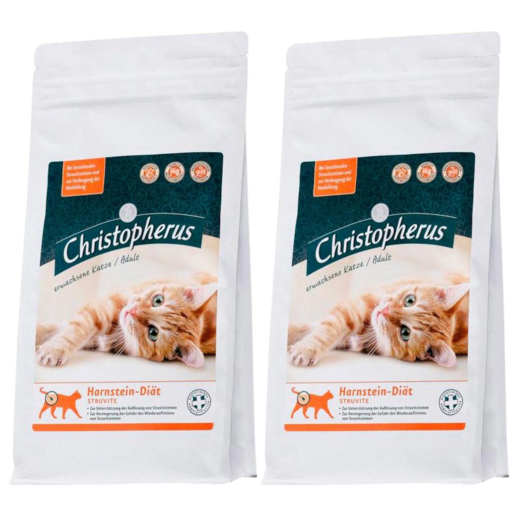 CHRISTOPHERUS Set: Trockenfutter »Christopherus Harnstein-Diät Struvite«, für Katzen, 2 Beutel á 1 kg