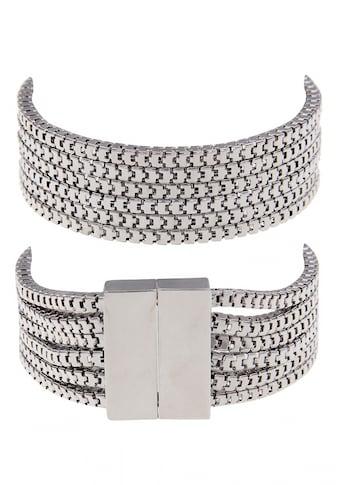 leslii Armband aus schmalen glänzenden Gliederketten kaufen