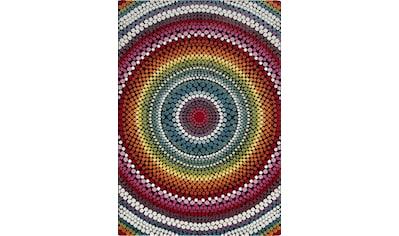 merinos Teppich »Relief 22844«, rund, 18 mm Höhe, Wohnzimmer kaufen