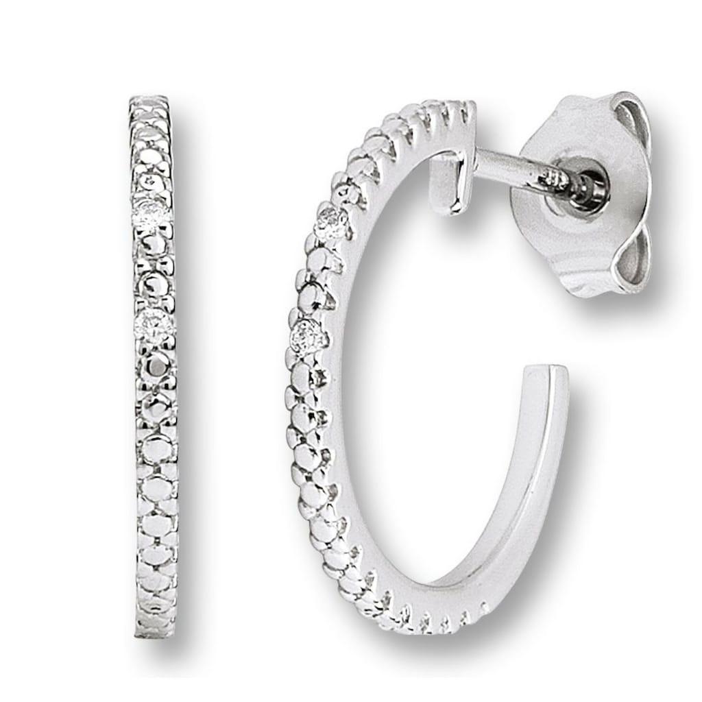 ONE ELEMENT Paar Ohrstecker »Ohrringe / Ohrstecker aus 585 Weißgold mit 0,02 ct Diamant«