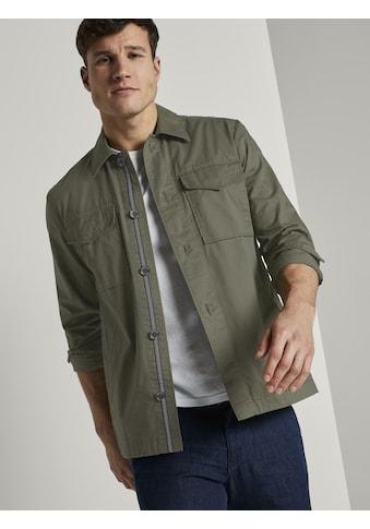TOM TAILOR Langarmhemd »Grüne Hemdjacke« kaufen