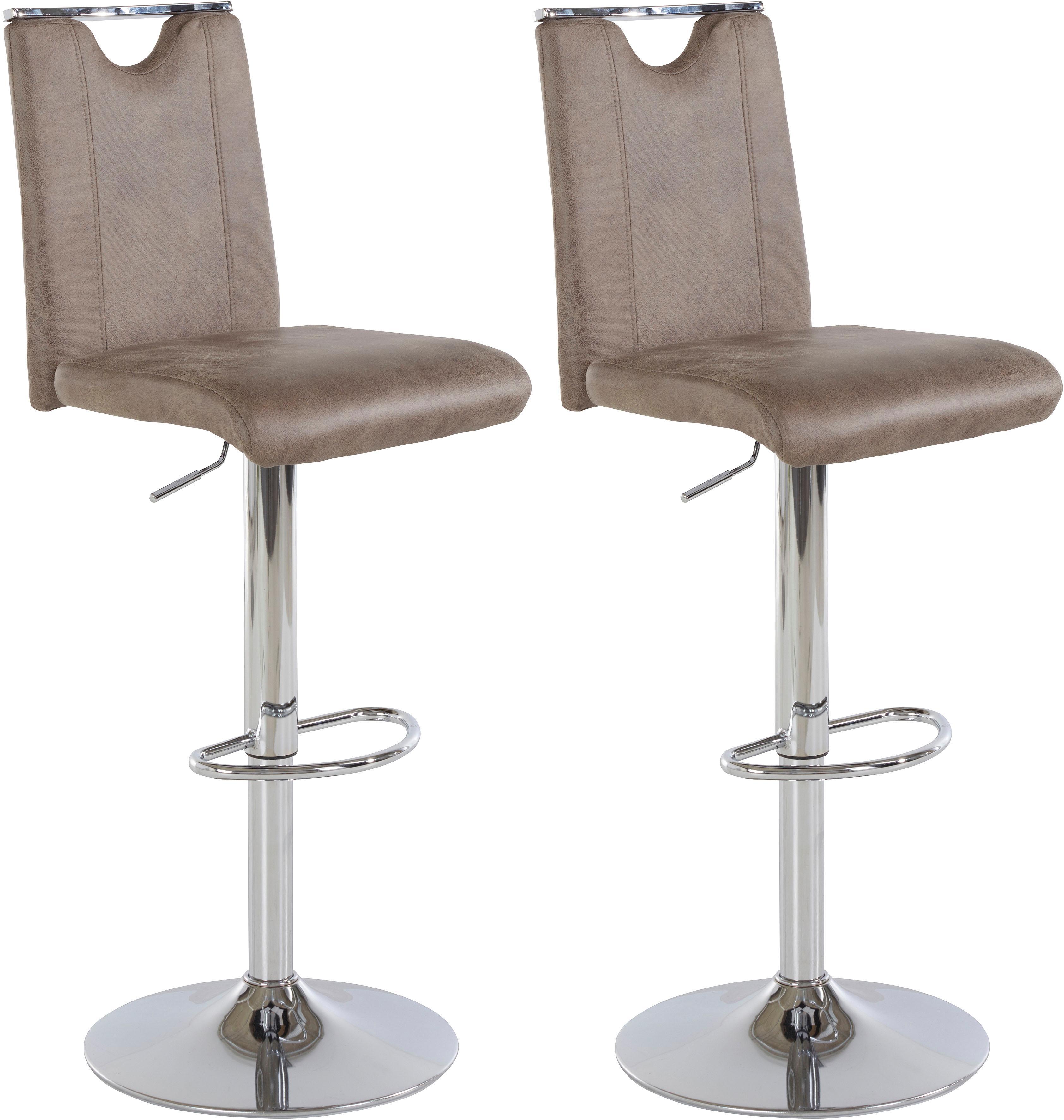 Barhocker Fever (2 Stück) Sitzhöhe 92-113 cm STEINHOFF braun