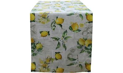 HOSSNER - HOMECOLLECTION Tischläufer »32433 Zitrone«, (1 St.) kaufen
