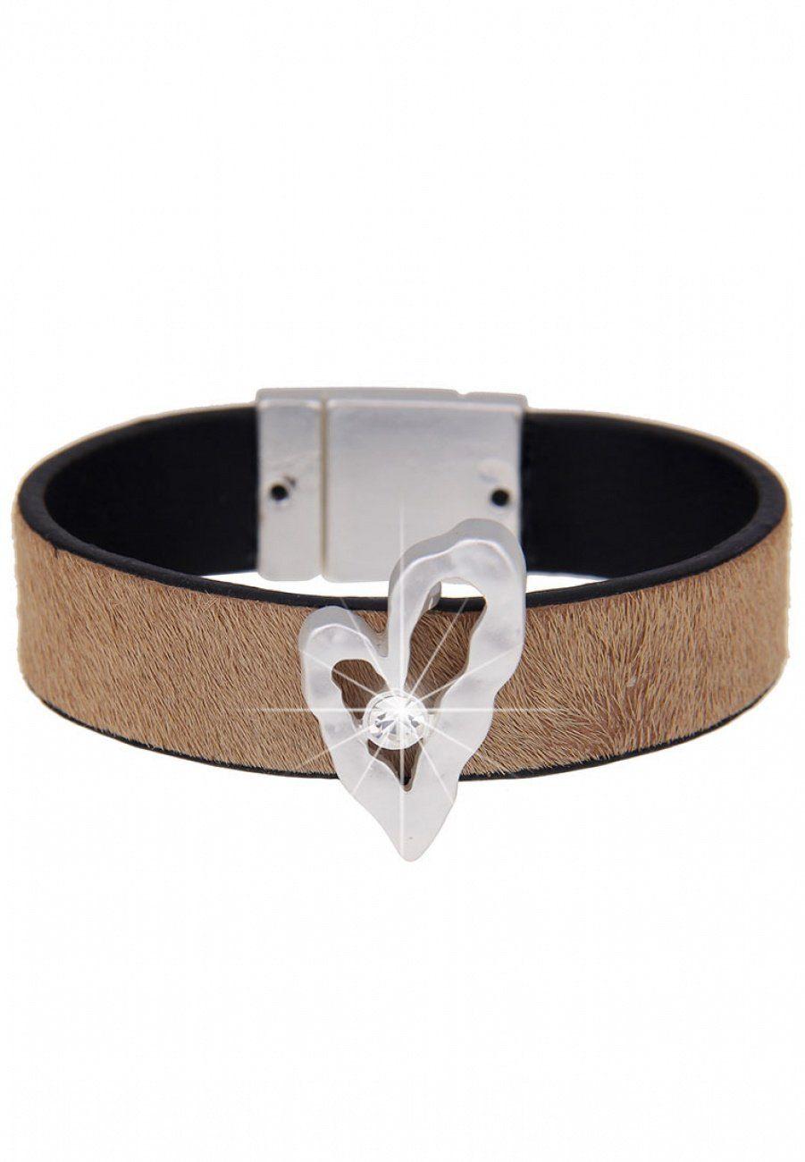 leslii Armband, mit Kunstfellbesatz braun Damen Armband Armbänder Schmuck 4250980327024