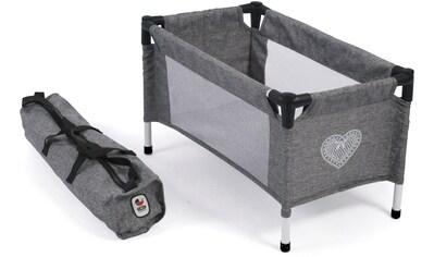 CHIC2000 Puppenbett »Puppen-Reisebett, Jeans grey«, mit Tragetasche kaufen