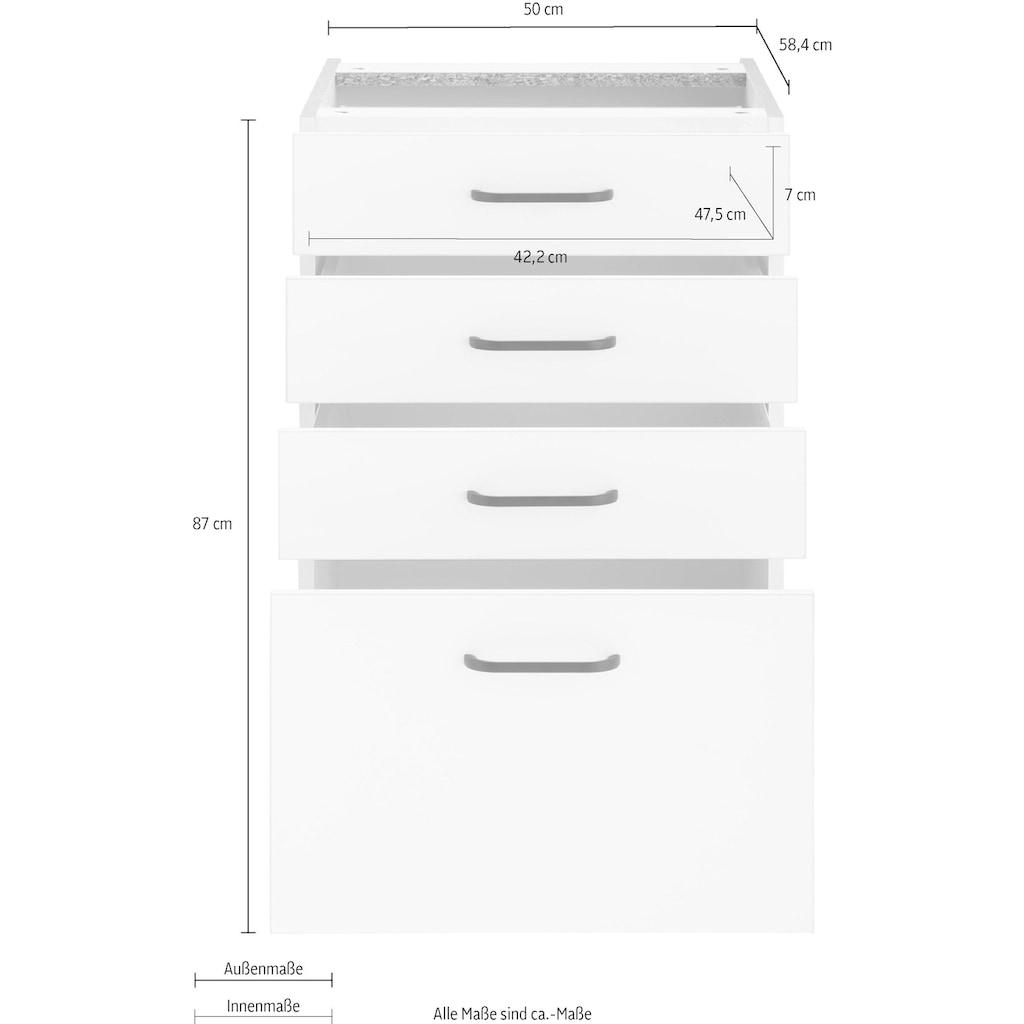 OPTIFIT Unterschrank »Elga«, mit Soft-Close-Funktion, Vollauszügen, höhenverstellbaren Füßen und Metallgriffen, Breite 50 cm