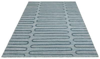 Theko Exklusiv Teppich »Tomma«, rechteckig, 12 mm Höhe, Hoch-Tief-Struktur, Wohnzimmer kaufen