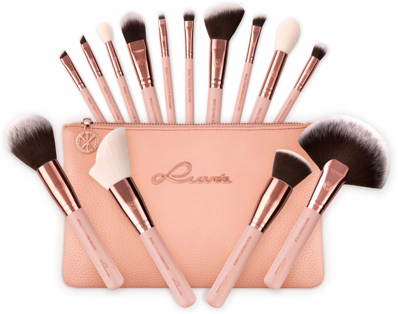 Luvia Cosmetics Essential Brushes - Rose Golden Vintage Veganes Make-Up Pinselset mit Pins Preisvergleich
