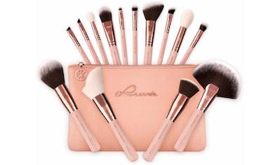 "Luvia Cosmetics Kosmetikpinsel - Set ""Essential Brushes  -  Rose Golden Vintage"", 15 - tlg., inkl. Pinseltasche kaufen"