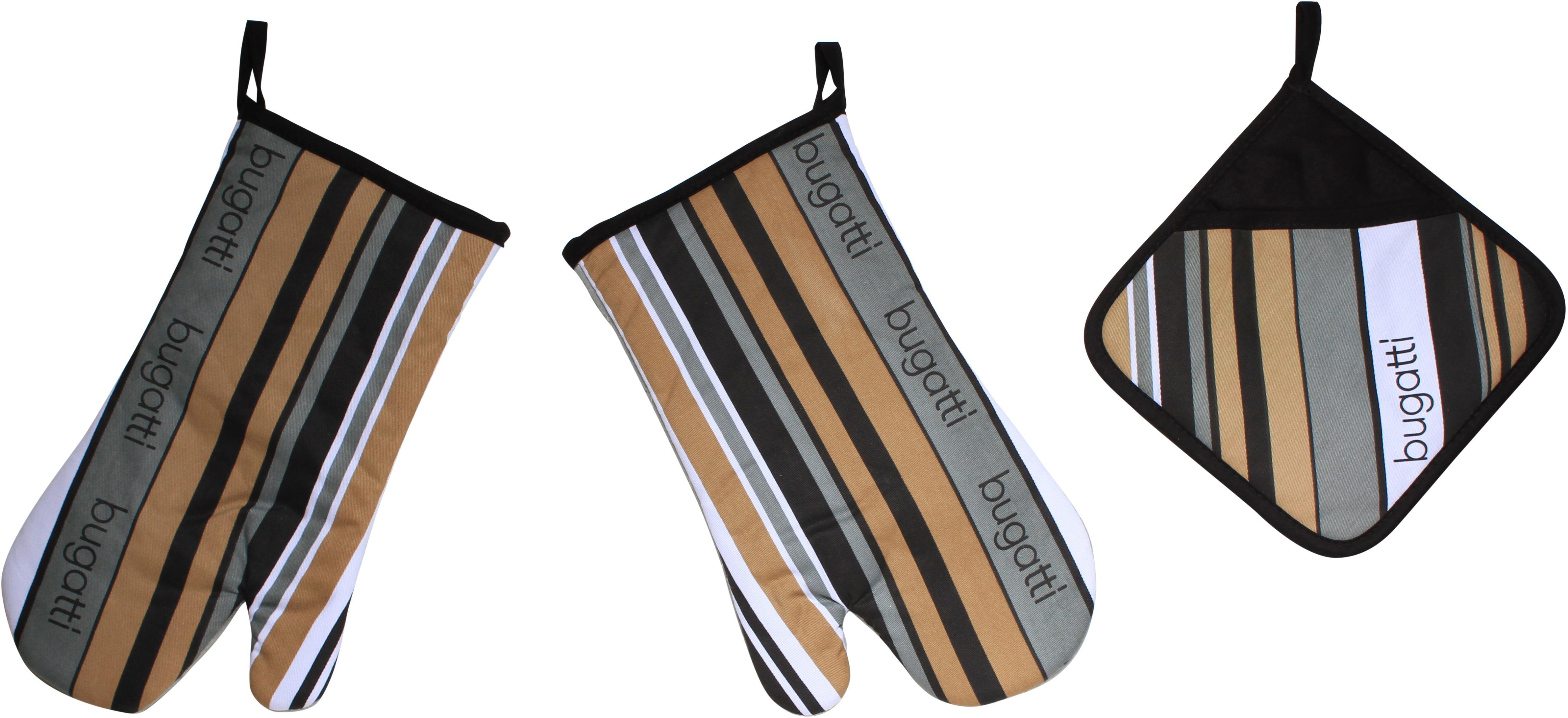 bugatti Topfhandschuhe Tape bunt Topflappen und Topfhandschuh Kochen Backen Haushaltswaren