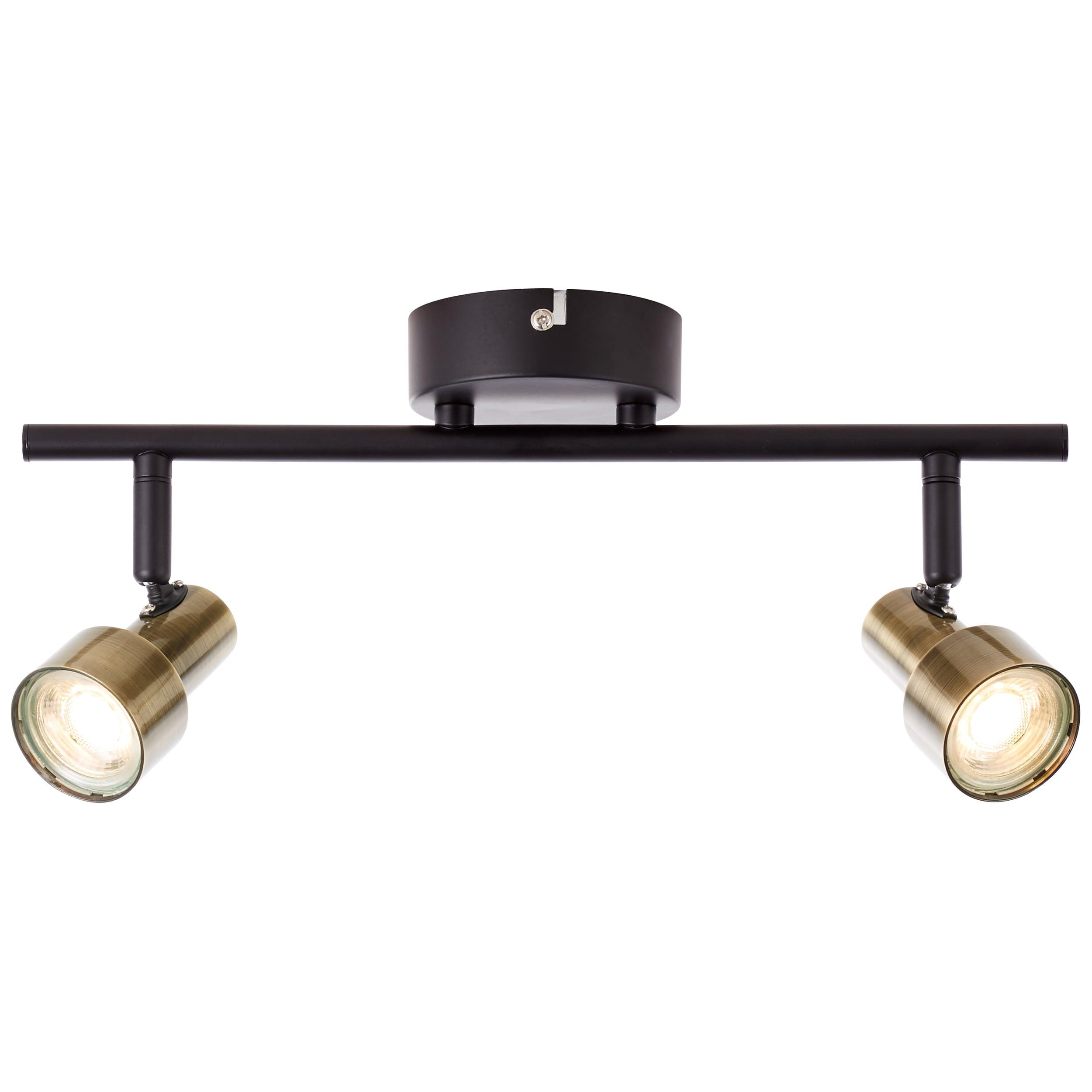 Brilliant Leuchten Croyden LED Spotrohr 2flg messing/schwarz