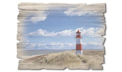 Artland Holzbild »Leuchtturm Sylt«, Gebäude, (1 St.) kaufen