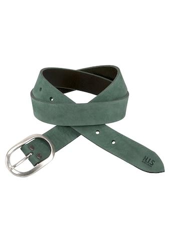 H.I.S Ledergürtel, mit Label Prägung, Used-Optik, Vintage-Design, mit ovaler Schließe,... kaufen