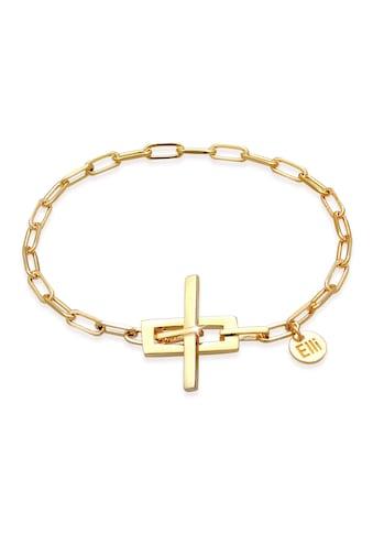 Elli Armband »Gliederkette T-Verschluss 925 Silber vergoldet« kaufen