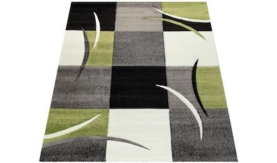 Paco Home Teppich »Diamond 665«, rechteckig, 17 mm Höhe, 3D-Design, Kurzflor mit Karo-Muster, Wohnzimmer, Kundenliebling mit 5 Sterne-Bewertung! kaufen